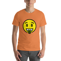Emoji T-Shirt Store | Money-Mouth Face emoji t-shirt in Orange