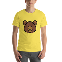 Emoji T-Shirt Store | Bear emoji t-shirt in Yellow