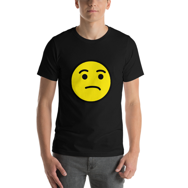 Emoji T-Shirt Store | Unamused Face emoji t-shirt in Black