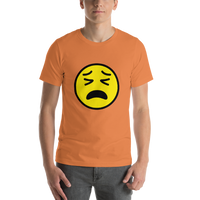 Emoji T-Shirt Store | Tired Face emoji t-shirt in Orange