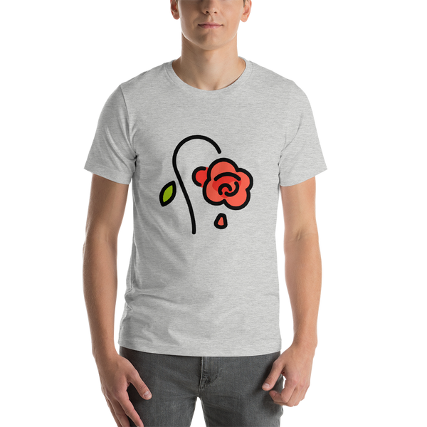 Emoji T-Shirt Store | Wilted Flower emoji t-shirt in Light gray