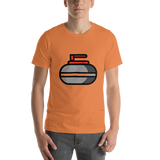 Emoji T-Shirt Store | Curling Stone emoji t-shirt in Orange