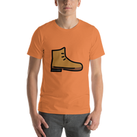 Emoji T-Shirt Store | Hiking Boot emoji t-shirt in Orange