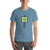Emoji T-Shirt Store | Bus Stop emoji t-shirt in Blue
