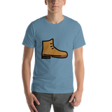 Emoji T-Shirt Store | Hiking Boot emoji t-shirt in Blue
