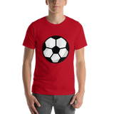 Emoji T-Shirt Store | Soccer Ball emoji t-shirt in Red