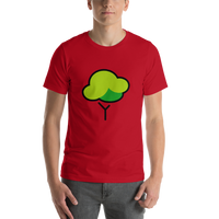 Emoji T-Shirt Store | Deciduous Tree emoji t-shirt in Red