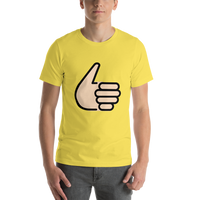 Emoji T-Shirt Store | Thumbs Up, Light Skin Tone emoji t-shirt in Yellow