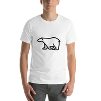 Emoji T-Shirt Store | Polar Bear emoji t-shirt in White