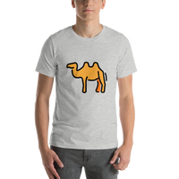 Emoji T-Shirt Store | Two-Hump Camel emoji t-shirt in Light gray