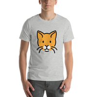 Emoji T-Shirt Store | Cat Face emoji t-shirt in Light gray