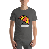 Emoji T-Shirt Store | Umbrella On Ground emoji t-shirt in Dark gray