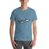 Emoji T-Shirt Store | Airplane Departure emoji t-shirt in Blue
