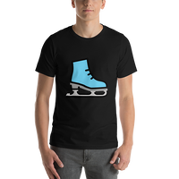 Emoji T-Shirt Store | Ice Skate emoji t-shirt in Black