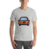 Emoji T-Shirt Store | Oncoming Automobile emoji t-shirt in Light gray
