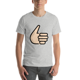 Emoji T-Shirt Store | Thumbs Up, Light Skin Tone emoji t-shirt in Light gray