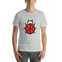 Emoji T-Shirt Store | Lady Beetle emoji t-shirt in Light gray