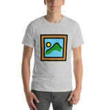 Emoji T-Shirt Store | Framed Picture emoji t-shirt in Light gray