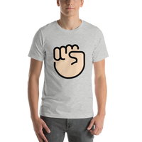Emoji T-Shirt Store | Raised Fist, Light Skin Tone emoji t-shirt in Light gray