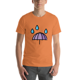 Emoji T-Shirt Store | Umbrella With Rain Drops emoji t-shirt in Orange