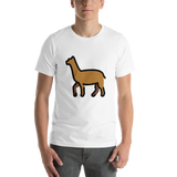 Emoji T-Shirt Store | Llama emoji t-shirt in White