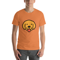 Emoji T-Shirt Store | Dog Face emoji t-shirt in Orange