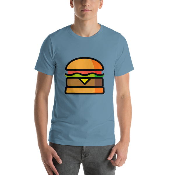 Emoji T-Shirt Store | Hamburger emoji t-shirt in Blue
