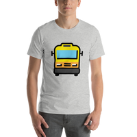 Emoji T-Shirt Store | Oncoming Bus emoji t-shirt in Light gray