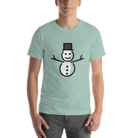 Emoji T-Shirt Store | Snowman Without Snow emoji t-shirt in Green