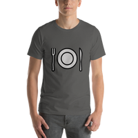 Emoji T-Shirt Store | Fork And Knife With Plate emoji t-shirt in Dark gray