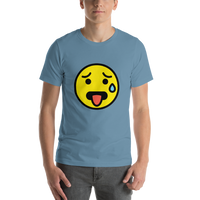 Emoji T-Shirt Store | Hot Face emoji t-shirt in Blue