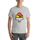 Emoji T-Shirt Store | Shaved Ice emoji t-shirt in Light gray