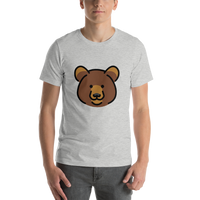 Emoji T-Shirt Store | Bear emoji t-shirt in Light gray