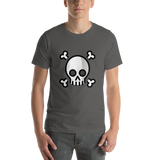 Emoji T-Shirt Store | Skull And Crossbones emoji t-shirt in Dark gray