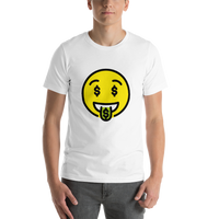 Emoji T-Shirt Store | Money-Mouth Face emoji t-shirt in White