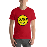 Emoji T-Shirt Store | Nerd Face emoji t-shirt in Red