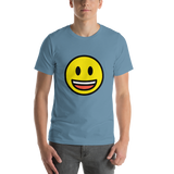 Emoji T-Shirt Store | Grinning Face With Big Eyes emoji t-shirt in Blue