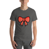 Emoji T-Shirt Store | Ribbon emoji t-shirt in Dark gray