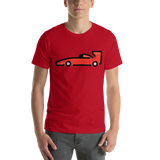 Emoji T-Shirt Store | Racing Car emoji t-shirt in Red