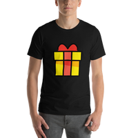 Emoji T-Shirt Store | Wrapped Gift emoji t-shirt in Black