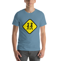 Emoji T-Shirt Store | Children Crossing emoji t-shirt in Blue