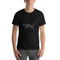 Emoji T-Shirt Store | Black Cat emoji t-shirt in Black