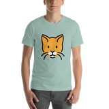 Emoji T-Shirt Store | Cat Face emoji t-shirt in Green