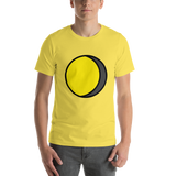 Emoji T-Shirt Store | Waning Gibbous Moon emoji t-shirt in Yellow