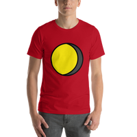 Emoji T-Shirt Store | Waning Gibbous Moon emoji t-shirt in Red