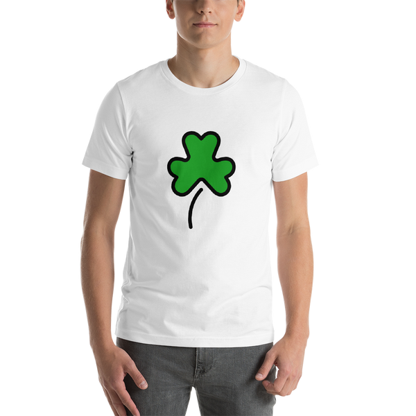 Emoji T-Shirt Store | Shamrock emoji t-shirt in White