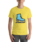 Emoji T-Shirt Store | Ice Skate emoji t-shirt in Yellow