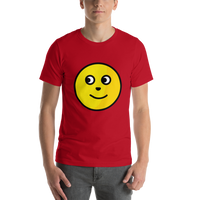 Emoji T-Shirt Store | Full Moon Face emoji t-shirt in Red