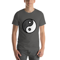 Emoji T-Shirt Store | Yin Yang emoji t-shirt in Dark gray