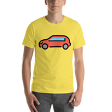 Emoji T-Shirt Store | Automobile emoji t-shirt in Yellow